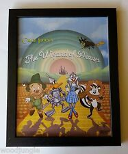 FRAMED THE WIZARD OF OZ MOVIE POSTER SIGNED  ARTIST  BUGS BUNNY DAFFY DUCK