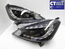 Black LED DRL Angel Eye Projector Headlights for 08-11 Honda JAZZ FIT