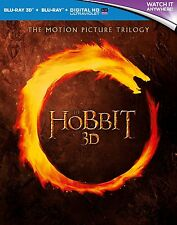 THE HOBBIT 3D & 2D Motion Picture Trilogy BLU-RAY Set BRAND NEW Free Ship