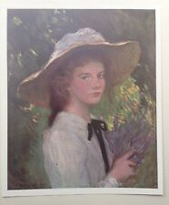 ORIGINAL 1903 'THE STUDIO' OIL PAINTING ' KITTY ' BY GEORGE CLAUSEN
