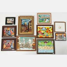 A Miscellaneous Collection of Framed Acrylic and Oil Paintings by Var... Lot 437
