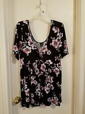 Torrid Floral Baby Doll Top Sz 2 New With Tags