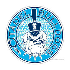 The Citadel Bulldogs Round Logo Cornhole Decals / SET of 2