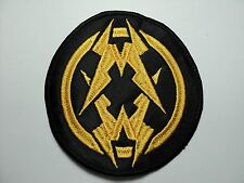 MUNICIPAL WASTE   ROUND  EMBROIDERED PATCH