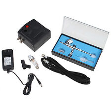 Dual Action Airbrushes Kit Set With Compressor for Nail Art Tattoo Cake Spray