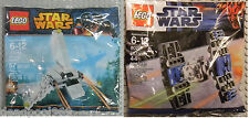 LEGO STAR WARS MINI SETS 30246 8028, IMPERIAL TIE FIGHTER & SHUTTLE NEW SEALED