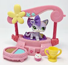Littlest Pet Shop LPS LOT Lavender Purple White Short Hair Cat #2094 Accessories