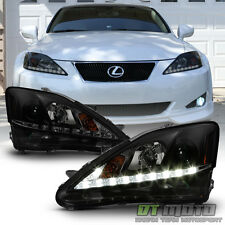 NEW Black Smoke 2006- 2010 Lexus IS250 IS350 LED Strip DRL Projector Headlights