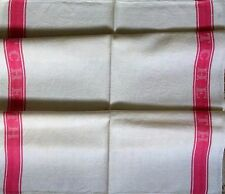 Vintage 'GLASS CLOTH' Stripe FRENCH TORCHON Thick Herringbone Cotton TEA TOWEL