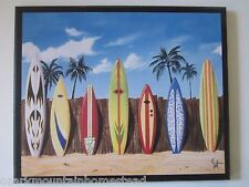 Surfboards beach wall decor plaque, surfing style sign surfboard picture, surf
