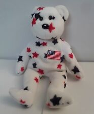 Beanie Glory the Bear TY 1998 American Flag Patriotic Retired Soft Plush All Age