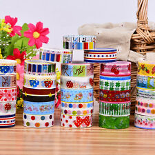 10 Pcs Washi Paper Scrapbooking Decorative Sticker Masking Adhesive Tape Roll
