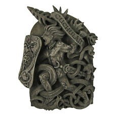 Cuchulain Wall Plaque - Stone Finish Dryad Design Celtic God Wicca Wiccan Pagan