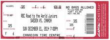 CANADA - SWEDEN 21.12.2014 ROAD TO THE WORLD JUNIORS PRE-TOURNAMENT USED TICKET