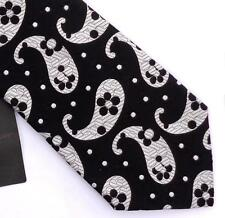 DUCHAMP LONDON, CLASSIC STUNNING BLACK & WHITE 'POP PAISLEY' TIE, FREEPOST, WOW!
