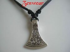 Celtic Tribal Axe Head Pendant Necklace