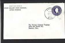 """AFTON, WYOMING COVER, 1945.  """"STAR VALLEY HIGH SCHOOL."""""""