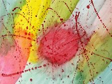 ABSTRACT SPLATTER PAINT RED GREEN YELLOW ART PRINT POSTER PICTURE BMP1934A