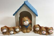 Fisher Price Loving Family Dollhouse Puppies Playtime Retired Dog Pet Dog House