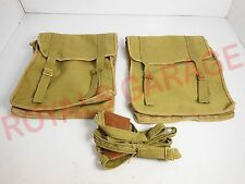 ROYAL BIKES CLASSIC ELECTRA BSA M20 HANGING SIDE CANVAS BAG MILITARY GREEN 56