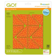 """AccuQuilt GO! Half Square Triangle-2"""" Finished Square Multiples Die 55063 Quilt"""