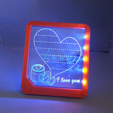 LED Light Writing Note Sign Board  Illuminate Display Bars Home Leave Message