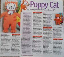 Poppy Cat héroe de televisión y libros Tejer patrón