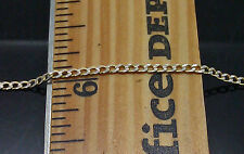 "20"" Long 10k Yellow Gold Thin Link Chain With Diamond Cut 2mm Wide #A1B8"