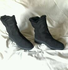 Black Rohde waterproof faux Suede and Sheepskin Boots -  sz 7/40