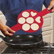 Non Stick Pancake Pan Flip Perfect Breakfast Maker Egg Omelette Flipjack Tool RT