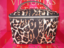 Nwt Victoria's Secret LEOPARD Train Case Makeup Cosmetic Overnight Tote STUNNING