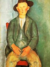 AMEDEO MODIGLIANI PEASANT BOY OLD MASTER ART PAINTING PRINT POSTER 159OMA