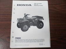Honda Factory Maintenance Repair Set-Up Instructions Manual 1992 TRX200D MPD5604