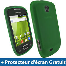 Vert Coque Gel TPU pour Samsung Galaxy Mini S5570 Android Housse Etui Case Cover