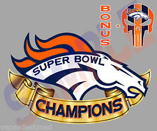 "Denver Broncos Super Bowl CHAMPIONS Decal Sticker FULL COLOR Car Outdoor 5x3"" V6"