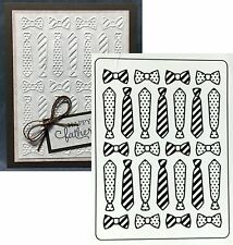 Darice Embossing Folders TIES & BOW folder 1219-221 All Occasion Father's Day