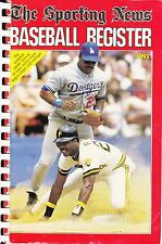1991 SPORTING NEWS BASEBALL REGISTER  PIRATES BARRY BONDS ON THE COVER
