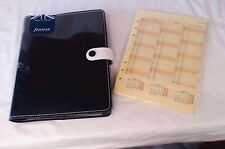 Filofax A5 Black White Monochrome Original Leather Organiser NEW