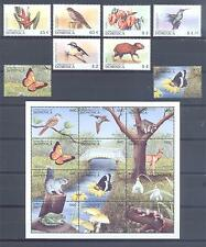 DOMINICA 1999, Butterflies, Fauna, Flora, set of 18(MS)+2+2SS, MNH**(120)