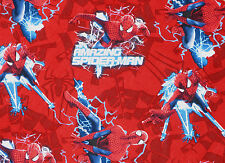"27"" REMNANT MARVEL COMICS SUPER HERO  SPIDERMAN ELECTRIC TOSS 100% COTTON FABRIC"