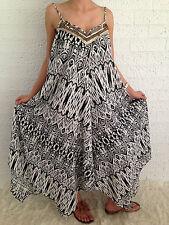 Women's Sleeveless Boho Gypsy Floaty Summer Maxi Long Casual Dress Size 18-20-22