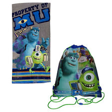 "DISNEY MONSTER Beach Towel Pool Bath Cotton 28""X58"" + BONUS Sling Backpack Bag"