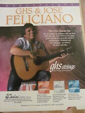 Jose Feliciano, GHS Strings, Full Page Promotional Ad