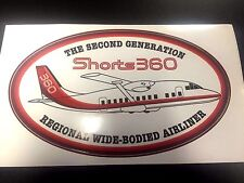 "Shorts 360 SD-3 SD-360 Airline Oval Pilot Decal Bag Sticker 3"" x 5"""