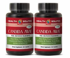 Yeast Infection Tablets - CANDIDA AWAY PLUS - Decreases Body Fatigue - 2Bot