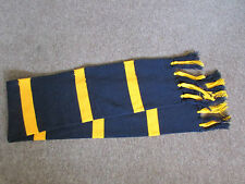 Charles Kirk  YELLOW & BLACK Striped FOOTBALL / Sporting / School Colours Scarf
