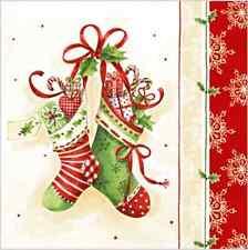 Papel de Almuerzo Servilletas Navidad Navidad 20 Medias Invierno Nieve Colorido/S