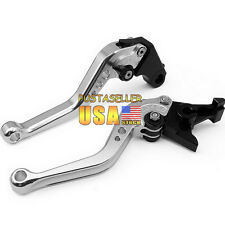 Silver Short Brake Clutch Levers For Honda CB599 CB600 HORNET 98-06 CB919 02-07