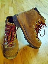 vtg 70's VASQUE gretchen leather hiking climbing mountaineering boots womens 7.5