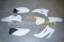 White Plastic Fairing Body Kit Motro Parts For 110cc Dirt Pit Bike Yamaha TTR110